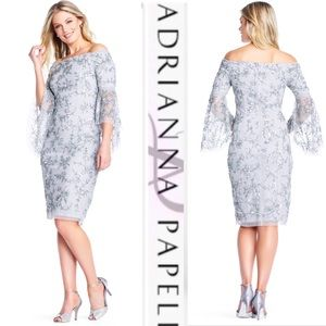 Adrianna Papell bell sleeve dress